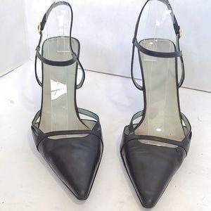 Gucci black strappy pumps